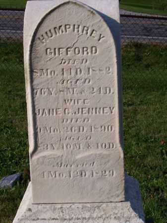JENNEY GIFFORD, JANE C - Huron County, Ohio | JANE C JENNEY GIFFORD - Ohio Gravestone Photos