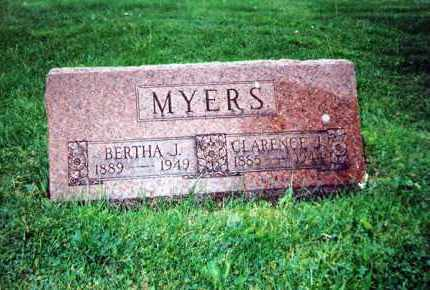 MYERS, BERTHA J. - Huron County, Ohio | BERTHA J. MYERS - Ohio Gravestone Photos