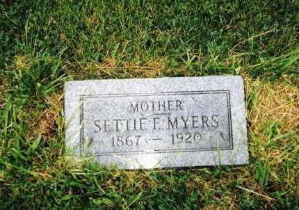 MYERS, SETTIE E. - Huron County, Ohio | SETTIE E. MYERS - Ohio Gravestone Photos