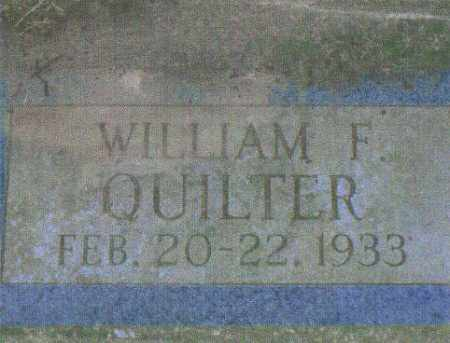 QUILTER, WILLIAM F. - Huron County, Ohio | WILLIAM F. QUILTER - Ohio Gravestone Photos