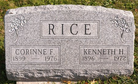 RICE, KENNETH H - Huron County, Ohio | KENNETH H RICE - Ohio Gravestone Photos