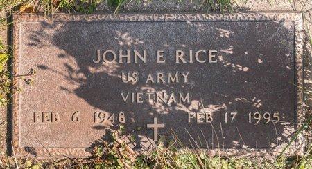 RICE, JOHN E - Huron County, Ohio   JOHN E RICE - Ohio Gravestone Photos