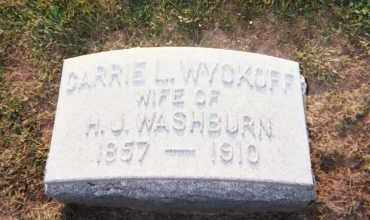 WYCKOFF WASHBURN, CARRIE L. - Huron County, Ohio | CARRIE L. WYCKOFF WASHBURN - Ohio Gravestone Photos