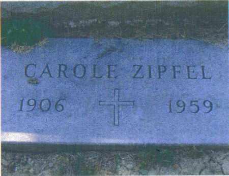 ZIPFEL, CAROLE - Huron County, Ohio | CAROLE ZIPFEL - Ohio Gravestone Photos