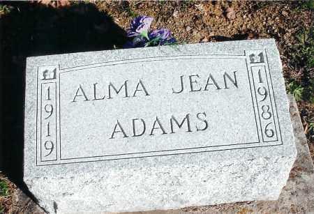 ADAMS, ALMA JEAN MENDELINE - Jackson County, Ohio | ALMA JEAN MENDELINE ADAMS - Ohio Gravestone Photos