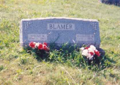 BLAMER, HAROLD M. - Jackson County, Ohio | HAROLD M. BLAMER - Ohio Gravestone Photos