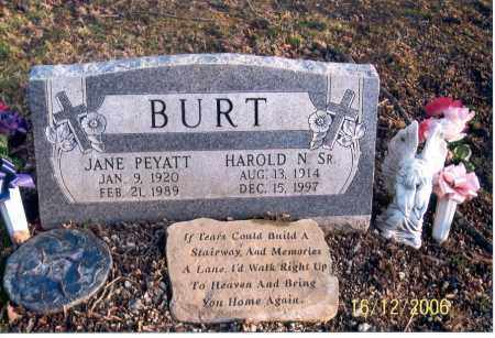 PEYATT BURT, JANE - Jackson County, Ohio | JANE PEYATT BURT - Ohio Gravestone Photos