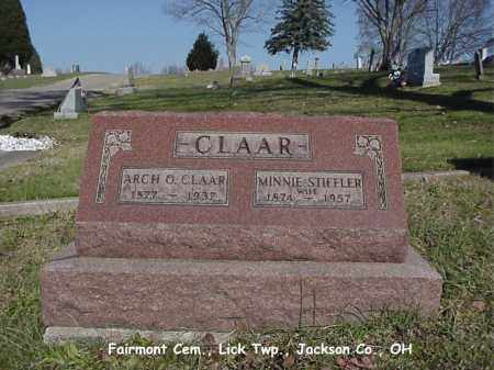 STIFFLER CLAAR, MINNIE - Jackson County, Ohio | MINNIE STIFFLER CLAAR - Ohio Gravestone Photos