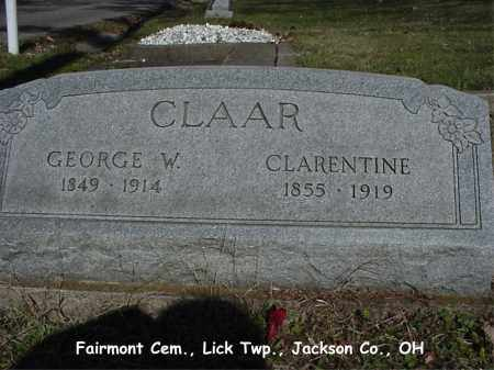 CLAAR, GEORGE - Jackson County, Ohio | GEORGE CLAAR - Ohio Gravestone Photos