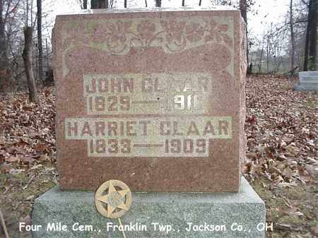 CLAAR, HARRIET - Jackson County, Ohio | HARRIET CLAAR - Ohio Gravestone Photos