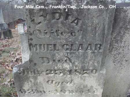 CLAAR, LYDIA - Jackson County, Ohio | LYDIA CLAAR - Ohio Gravestone Photos