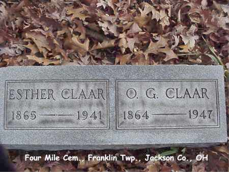 RIEGEL CLAAR, ESTHER - Jackson County, Ohio | ESTHER RIEGEL CLAAR - Ohio Gravestone Photos