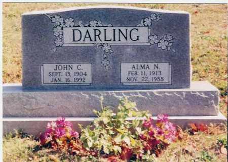 ALMA N., DARLING - Jackson County, Ohio | DARLING ALMA N. - Ohio Gravestone Photos