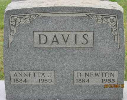 DAVIS, ANNETTA - Jackson County, Ohio | ANNETTA DAVIS - Ohio Gravestone Photos