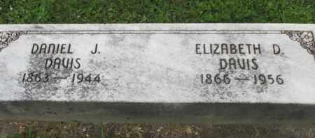 DAVIS, ELIZABETH - Jackson County, Ohio | ELIZABETH DAVIS - Ohio Gravestone Photos
