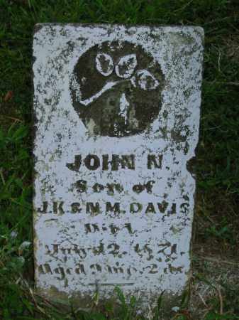 DAVIS, JOHN N. - Jackson County, Ohio | JOHN N. DAVIS - Ohio Gravestone Photos