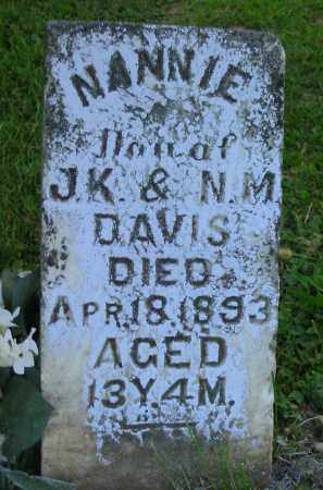 DAVIS, NANNIE - Jackson County, Ohio | NANNIE DAVIS - Ohio Gravestone Photos