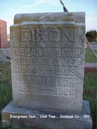 DIXON, SARAH - Jackson County, Ohio | SARAH DIXON - Ohio Gravestone Photos