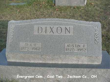 WRIGHT DIXON, OLA - Jackson County, Ohio | OLA WRIGHT DIXON - Ohio Gravestone Photos