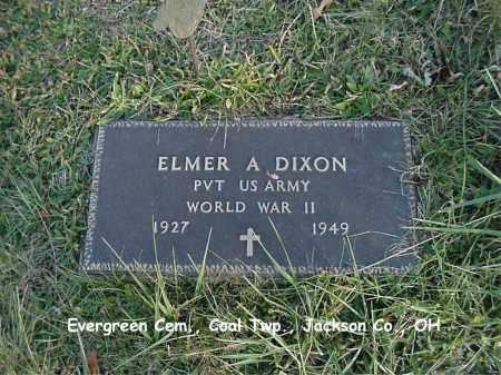 DIXON, ELMER - Jackson County, Ohio | ELMER DIXON - Ohio Gravestone Photos