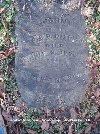 DIXON, JOHN - Jackson County, Ohio | JOHN DIXON - Ohio Gravestone Photos