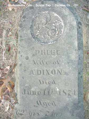 GRAHAM DIXON, PHEBE - Jackson County, Ohio | PHEBE GRAHAM DIXON - Ohio Gravestone Photos