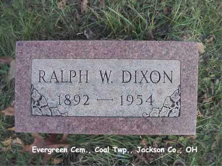 DIXON, RALPH - Jackson County, Ohio   RALPH DIXON - Ohio Gravestone Photos