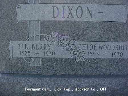 WOODRUFF DIXON, CHLOE - Jackson County, Ohio | CHLOE WOODRUFF DIXON - Ohio Gravestone Photos