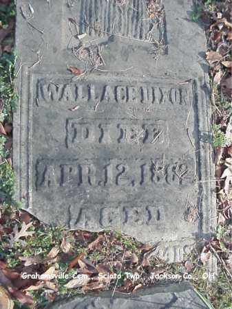 DIXON, WALLACE - Jackson County, Ohio | WALLACE DIXON - Ohio Gravestone Photos