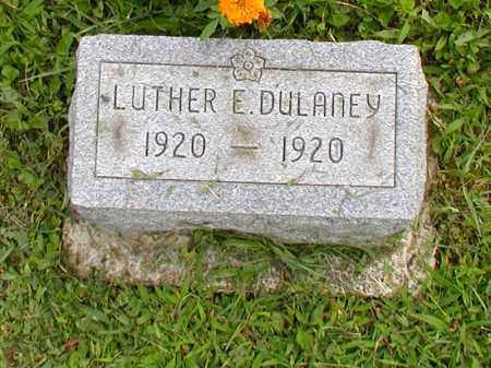 DULANEY, LUTHER E. - Jackson County, Ohio | LUTHER E. DULANEY - Ohio Gravestone Photos