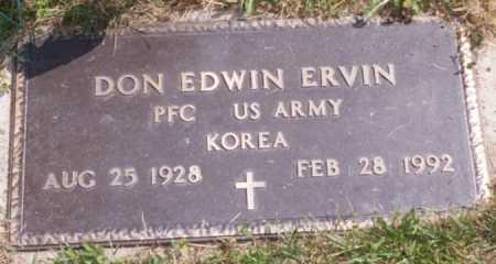 ERVIN, DONALD - Jackson County, Ohio | DONALD ERVIN - Ohio Gravestone Photos