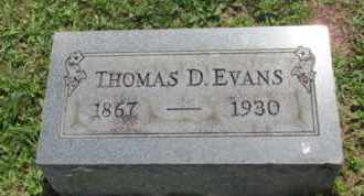 EVANS, THOMAS - Jackson County, Ohio | THOMAS EVANS - Ohio Gravestone Photos