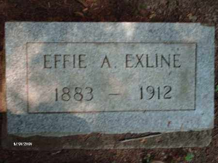 EXLINE, EFFIE ALICE - Jackson County, Ohio | EFFIE ALICE EXLINE - Ohio Gravestone Photos