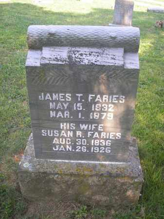FARIES, JAMES TAYLOR - Jackson County, Ohio | JAMES TAYLOR FARIES - Ohio Gravestone Photos