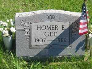 GEE, HOMER E - Jackson County, Ohio | HOMER E GEE - Ohio Gravestone Photos