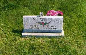 GEE, ISAAC N - Jackson County, Ohio | ISAAC N GEE - Ohio Gravestone Photos
