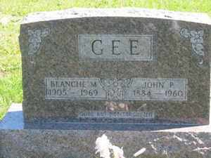 GEE, BLANCHE  M. - Jackson County, Ohio | BLANCHE  M. GEE - Ohio Gravestone Photos