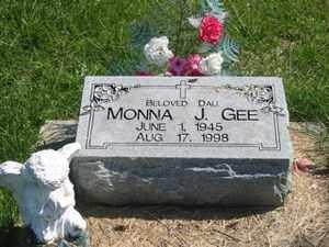 GEE, MONNA  J. - Jackson County, Ohio | MONNA  J. GEE - Ohio Gravestone Photos