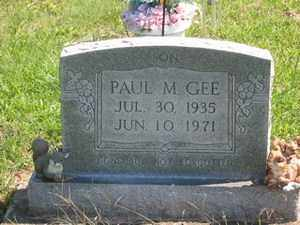 GEE, PAUL M. - Jackson County, Ohio | PAUL M. GEE - Ohio Gravestone Photos
