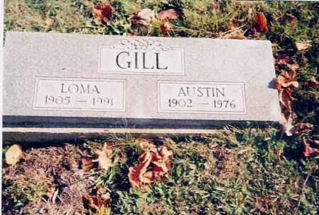 GILL, AUSTIN - Jackson County, Ohio | AUSTIN GILL - Ohio Gravestone Photos