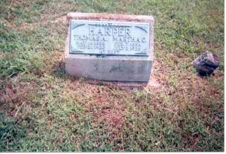 HARPER, MARTHA C. - Jackson County, Ohio | MARTHA C. HARPER - Ohio Gravestone Photos