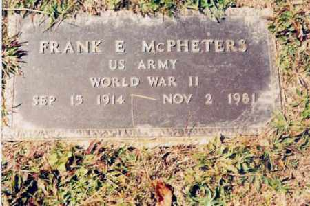 MCPHETERS, FRANK E. - Jackson County, Ohio | FRANK E. MCPHETERS - Ohio Gravestone Photos