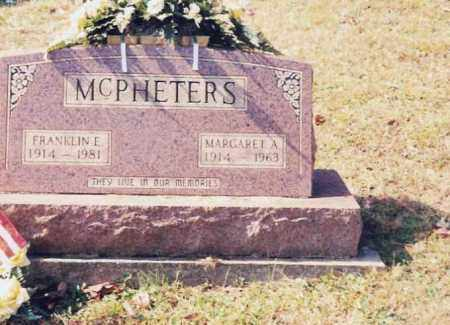 PITTENGER MCPHETERS, MARGARET A. - Jackson County, Ohio | MARGARET A. PITTENGER MCPHETERS - Ohio Gravestone Photos
