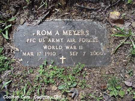 "MEYERS, ROMLEY ""ROM"" - Jackson County, Ohio | ROMLEY ""ROM"" MEYERS - Ohio Gravestone Photos"
