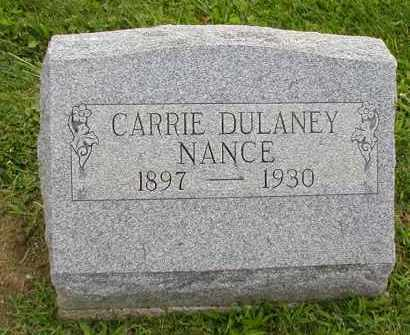 DULANEY NANCE, CARRIE - Jackson County, Ohio | CARRIE DULANEY NANCE - Ohio Gravestone Photos