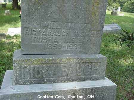 RICKABAUGH, WILLIAM - Jackson County, Ohio | WILLIAM RICKABAUGH - Ohio Gravestone Photos