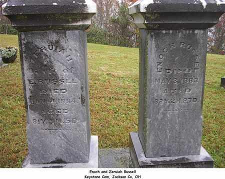 RUSSEL, ZERUIAH - Jackson County, Ohio | ZERUIAH RUSSEL - Ohio Gravestone Photos