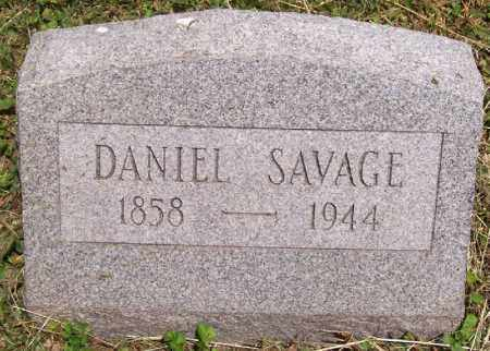 SAVAGE, DANIEL - Jackson County, Ohio | DANIEL SAVAGE - Ohio Gravestone Photos