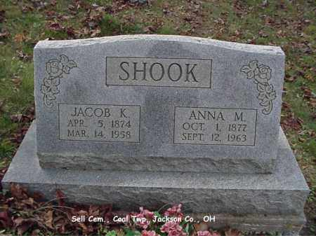 SHOOK, ANNA - Jackson County, Ohio | ANNA SHOOK - Ohio Gravestone Photos