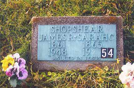 SHOPSHEAR, JAMES ROBERT - Jackson County, Ohio | JAMES ROBERT SHOPSHEAR - Ohio Gravestone Photos